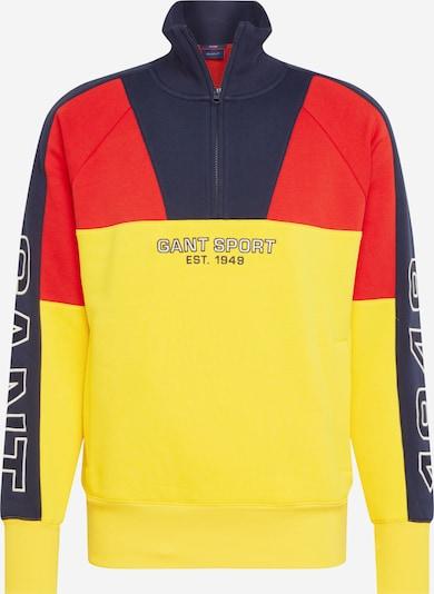 Bluză de molton GANT pe albastru fum / galben / roși aprins: Privire frontală