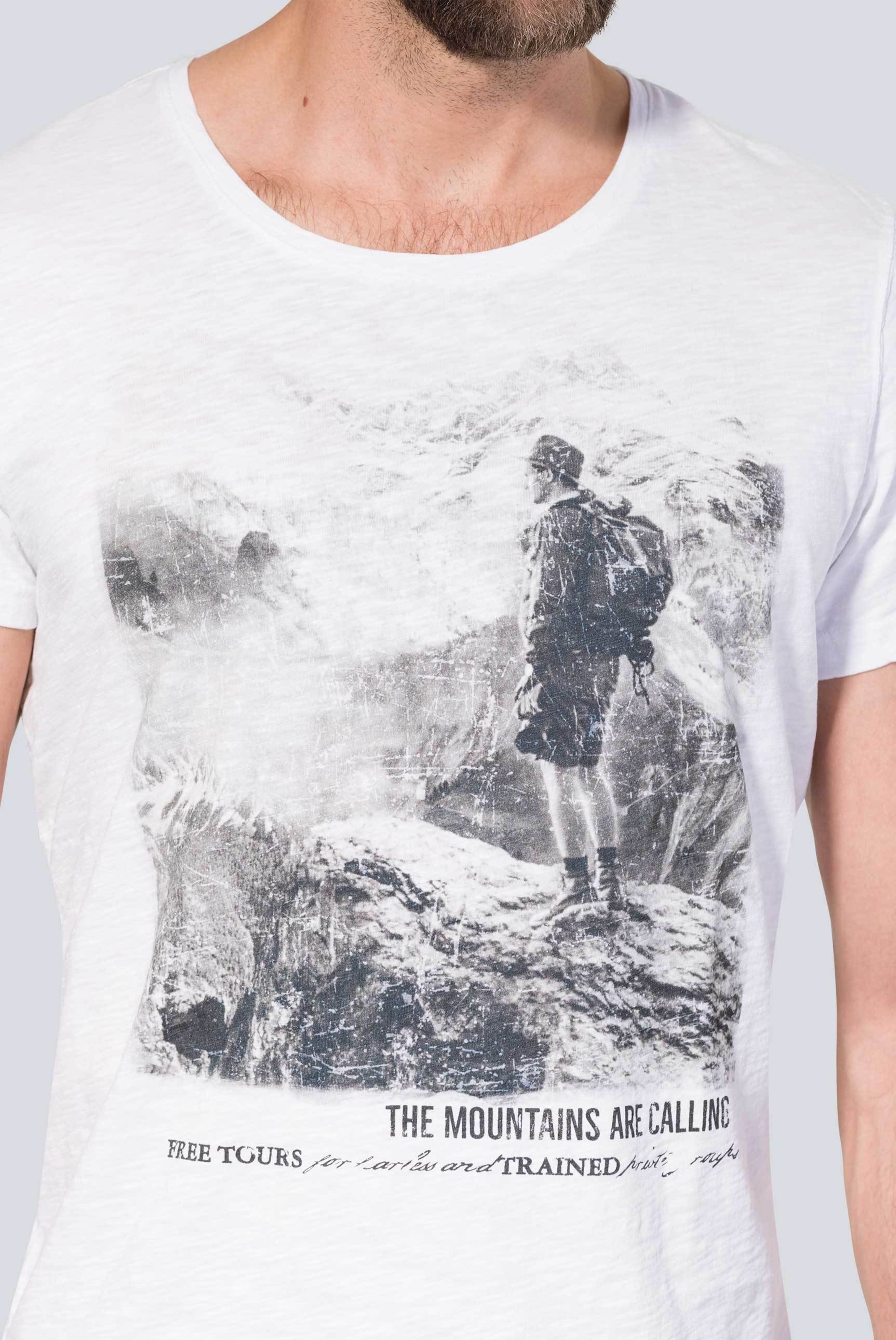 shirt HellgrauWeiß T Camp In David y6bf7g