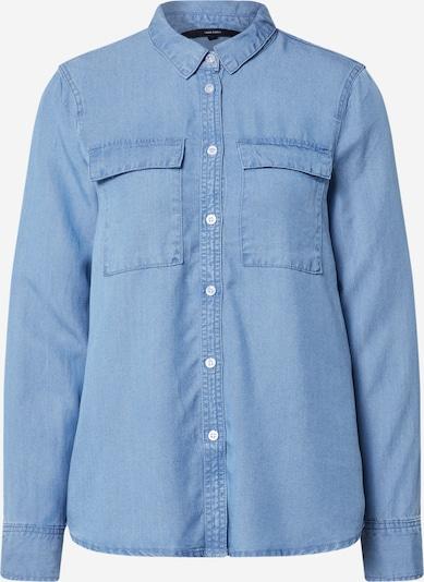 VERO MODA Bluse in blue denim, Produktansicht