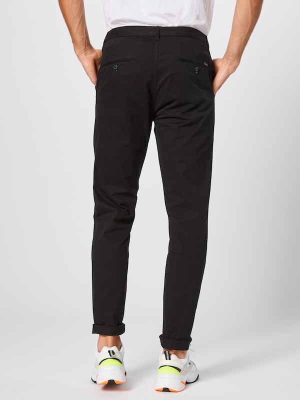 SCOTCH & SODA Chino 'Stuart' in schwarz: Rückansicht