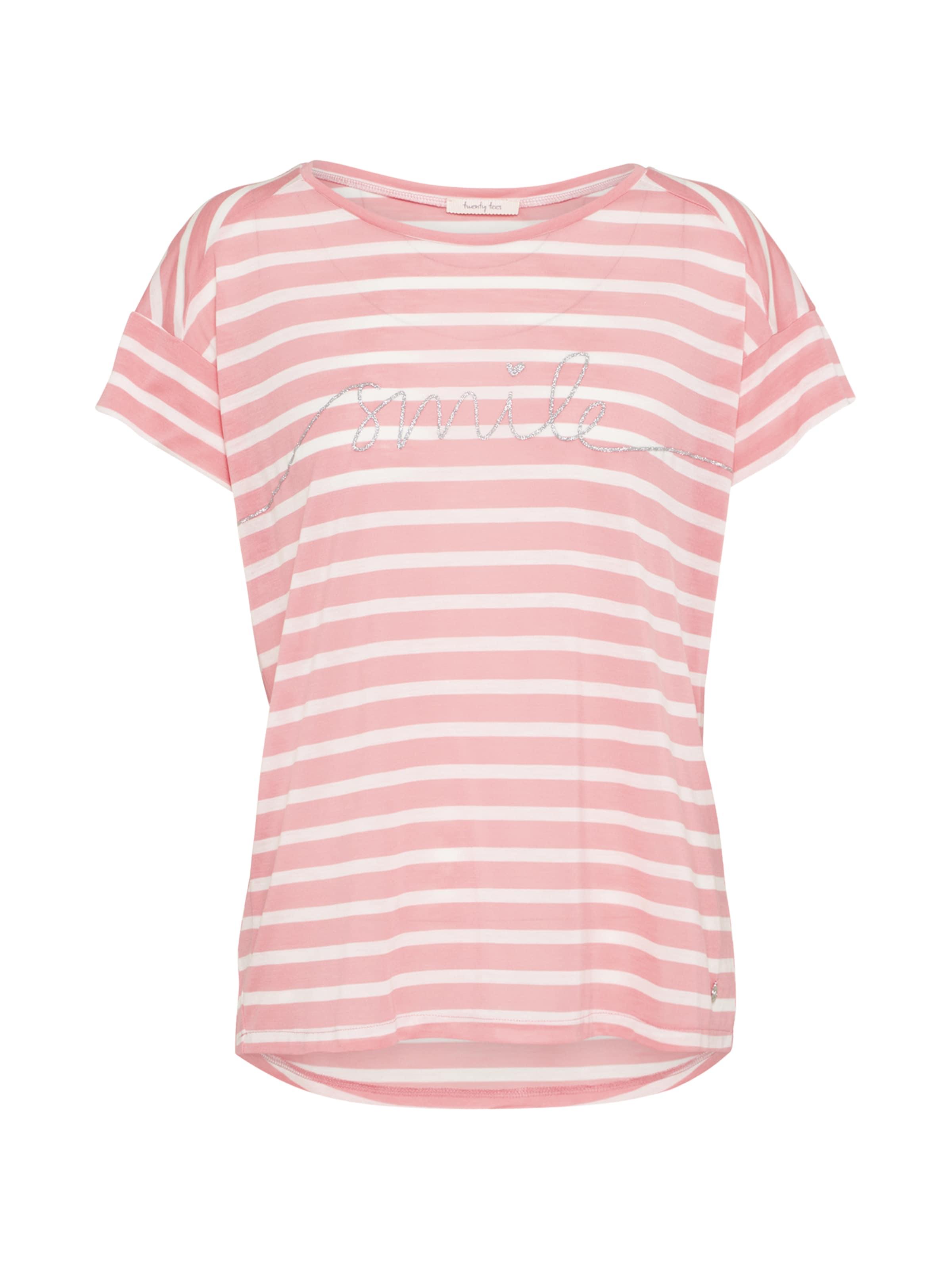 shirt 'smile In Twenty RosaWeiß Ringel' Tees T jzGqpLSUMV