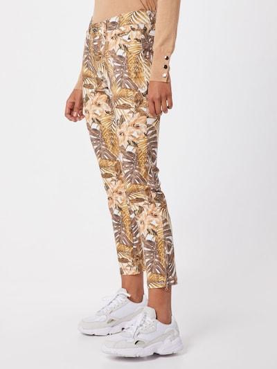 MAC Jeans 'Dream Chic' in de kleur Bruin / Gemengde kleuren / Wit, Modelweergave