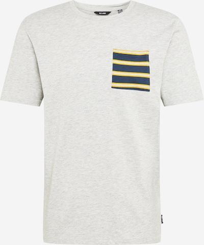 Only & Sons Shirt 'MELTIN' in de kleur Navy / Geel / Lichtgrijs, Productweergave
