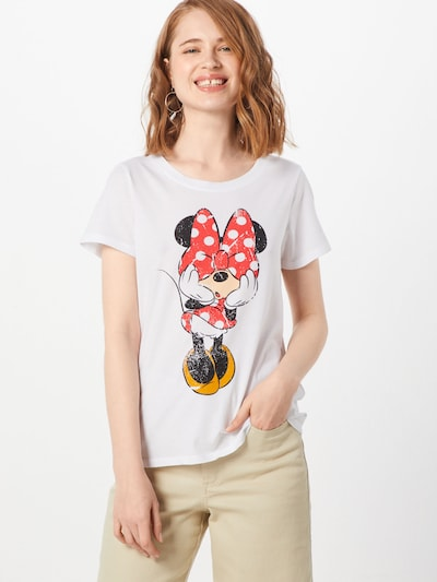 ONLY T-Shirt 'MICKEY VINTAGE' in weiß: Frontalansicht