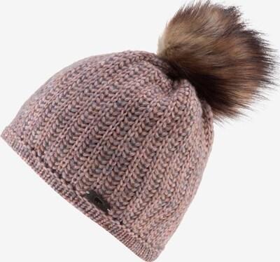 Eisbär Mütze 'Aurelie Lux' in hellbraun / altrosa, Produktansicht
