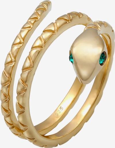 ELLI Ring Pinky Ring, Schlange in gold / dunkelgrün, Produktansicht