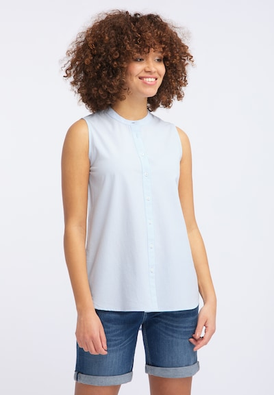 MUSTANG Bluse ' Basic Summer Top ' in weiß, Modelansicht