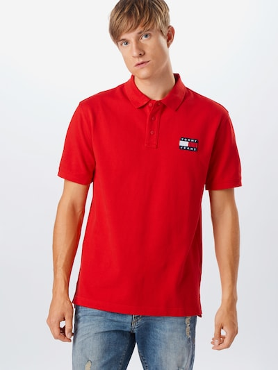Tommy Jeans Särk 'Badge Polo' punane: Eestvaade