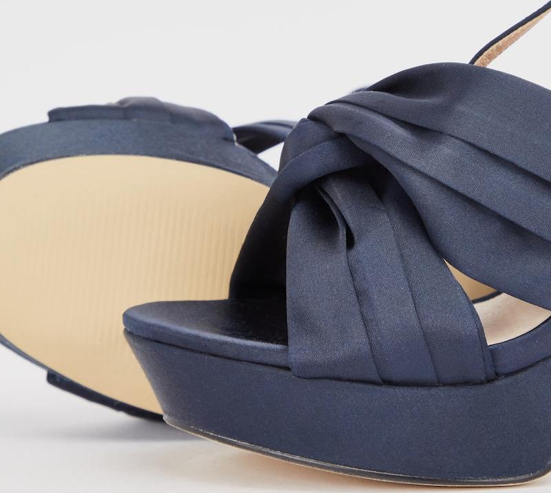 Bianco Satin Steg Sandalen Günstige und langlebige Schuhe
