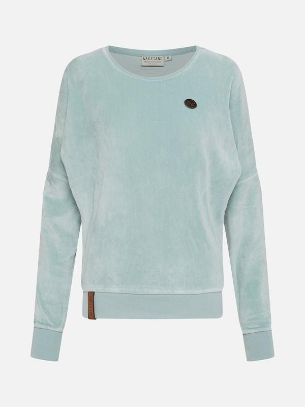 NAKETANO Auf Dem Küchentisch Sweatshirt für Damen Pink