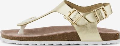 TOM TAILOR Sandale in gold, Produktansicht