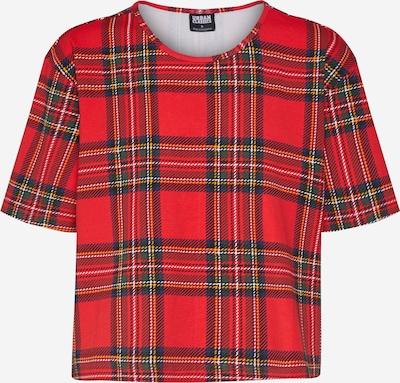 Urban Classics Tričko 'Tartan' - červená, Produkt
