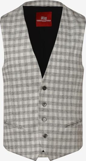 Finshley & Harding London Weste 'Dallas' in grau / hellgrau, Produktansicht