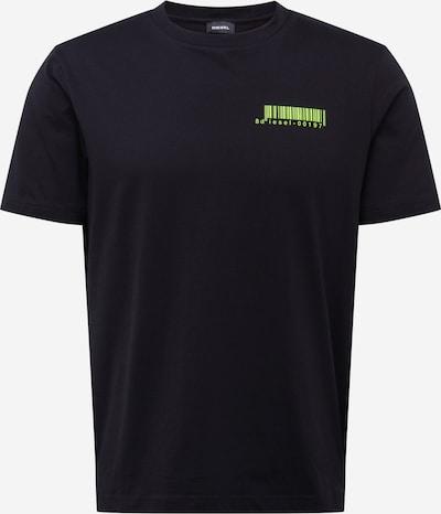 DIESEL T-Shirt 'Just Slits X 84' in neongrün / schwarz, Produktansicht