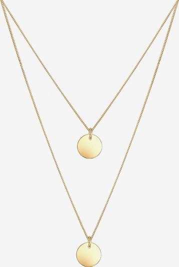 ELLI Halskette 'Kreis, Layer' in gold, Produktansicht