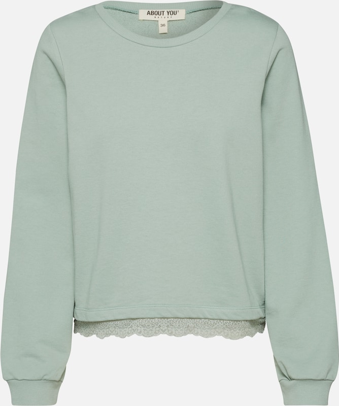 ABOUT YOU Sweatshirt 'Jenny' in grün / mint, Produktansicht