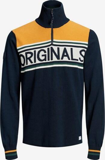 JACK & JONES Pullover in nachtblau / mischfarben, Produktansicht