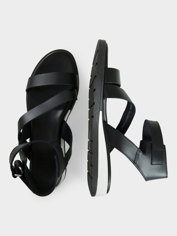 PIECES Leder-Sandalen