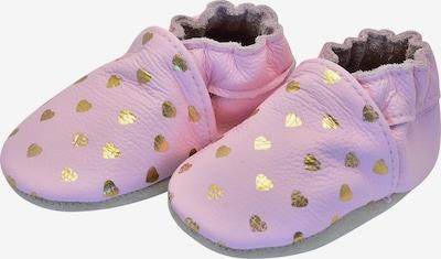 Rose et Chocolat Krabbelschuhe 'Hearts' in gold / rosa, Produktansicht