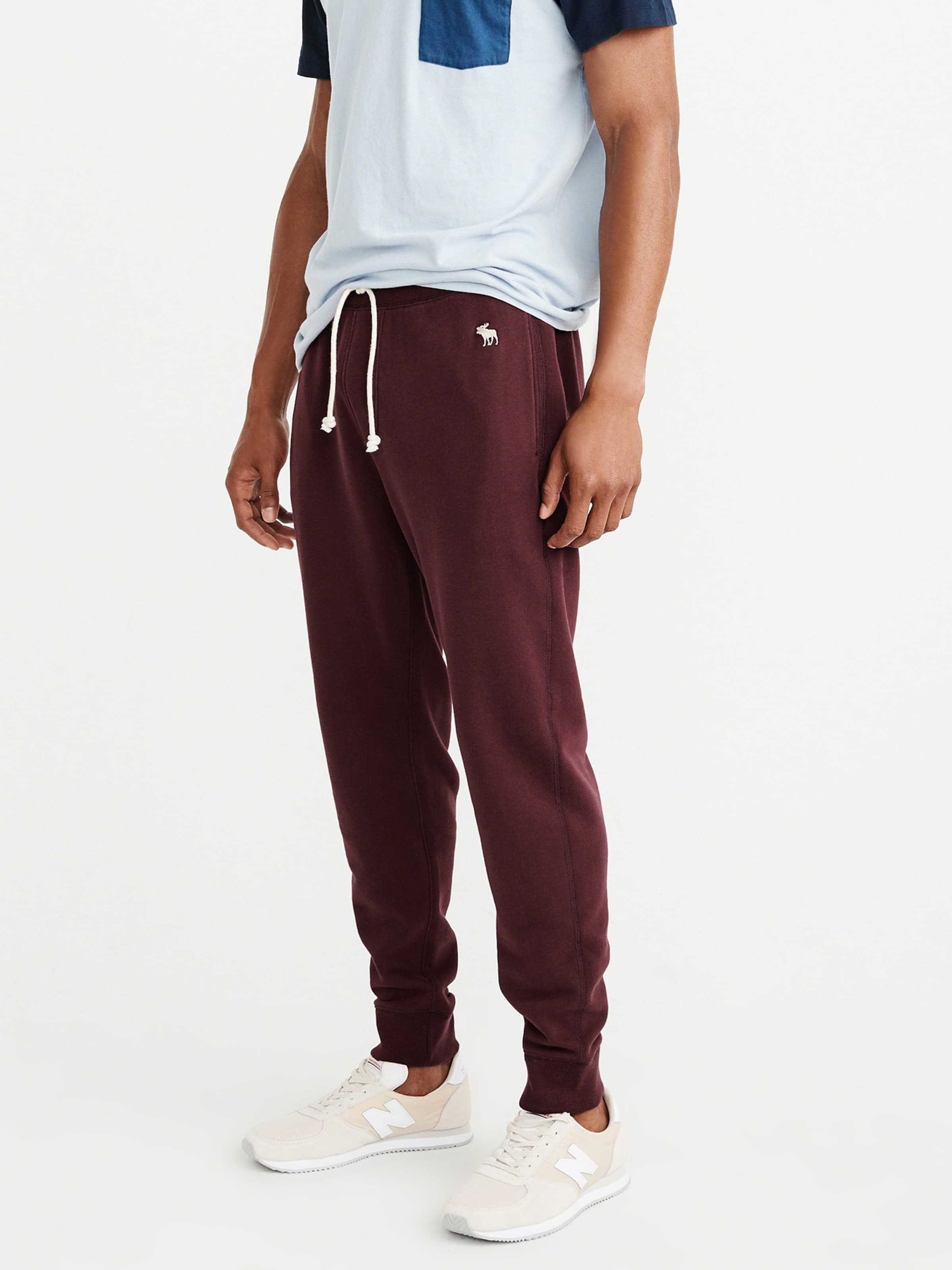 Abercrombieamp; Jogger 4cc' Global In Burgunder Fitch 'essential Dtc Hose SqUzGMLVp