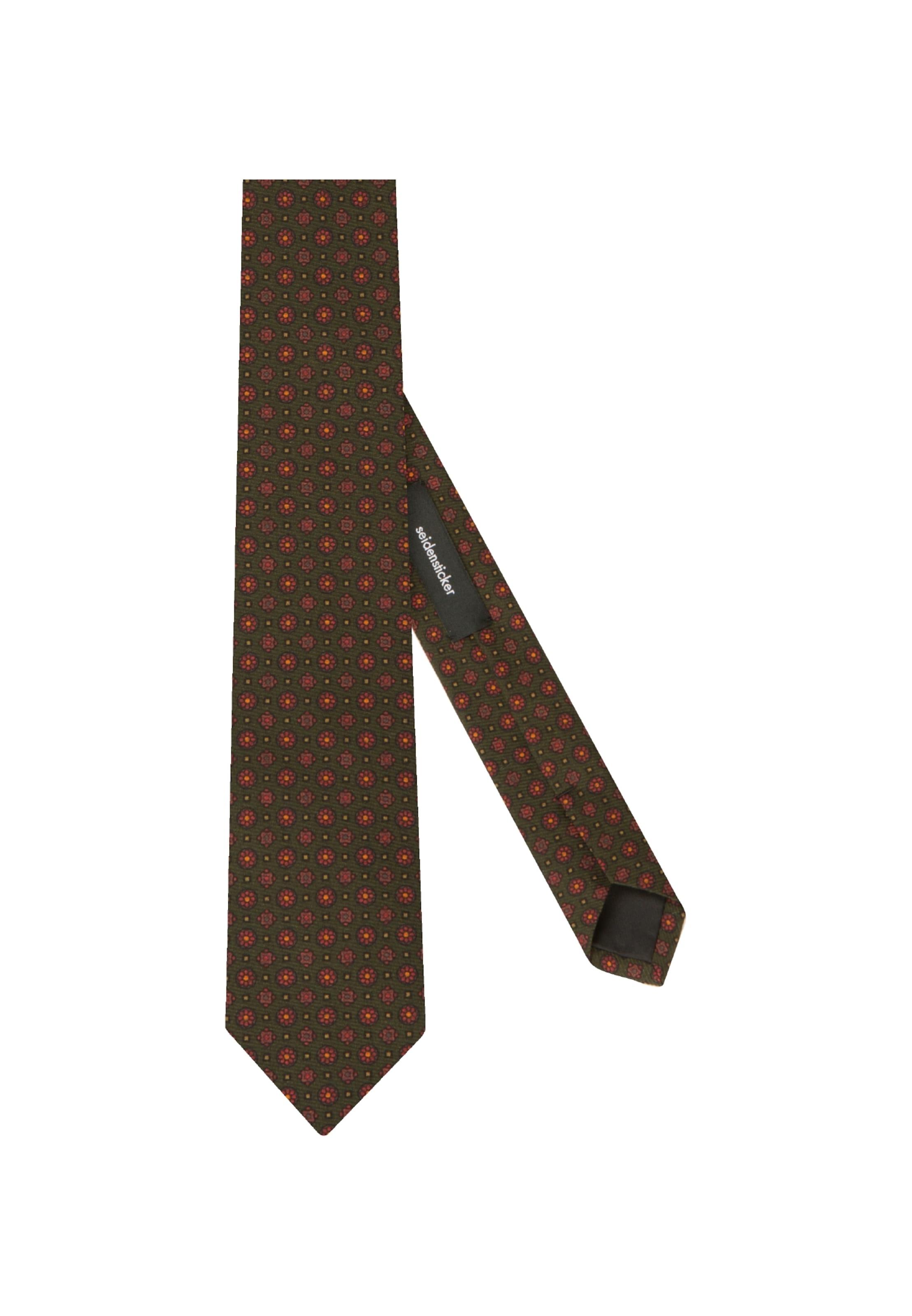 Cravate Seidensticker FoncéOrange 'schwarze Vert Rose' En q35ALRj4
