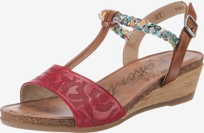 REMONTE Sandaletten in braun / rot, Produktansicht