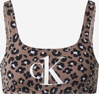 Calvin Klein Swimwear Bikini gornji dio u svijetlosmeđa / crna, Pregled proizvoda