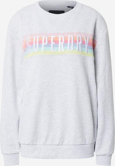 Superdry Sweatshirt 'RAINBOW' in rosa / weiß, Produktansicht