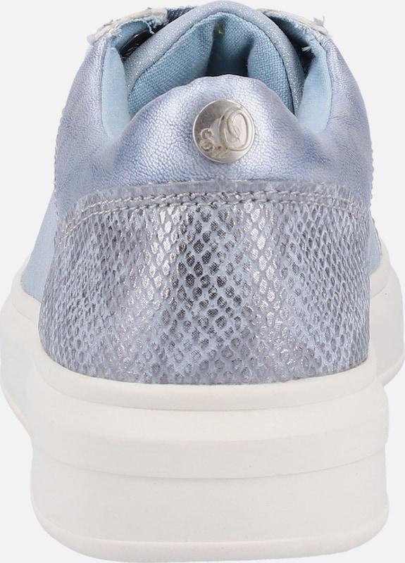 S oliver Label 'glitzer En Basses Fumé Sneaker' Red Baskets Bleu qSzMVUpjLG