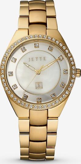 JETTE Uhr 'Time' in gold / silber / weiß, Produktansicht