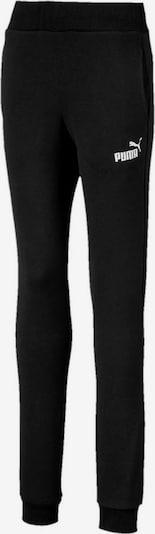 PUMA Športne hlače 'Essentials' | črna / bela barva, Prikaz izdelka