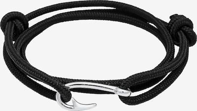 PAULO FANELLO Armband 'Haken' in schwarz / silber, Produktansicht