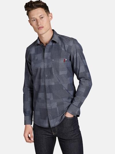 Shirtmaster Overhemd ' Mixedstyles ' in de kleur Antraciet: Vooraanzicht