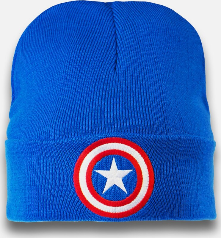 LOGOSHIRT Strickmütze 'Captain America �?Logo'