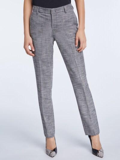 fekete / piszkosfehér SET Ráncos nadrág, Modell nézet