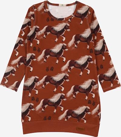 Walkiddy Kleid in braun / ocker / schwarz / naturweiß, Produktansicht