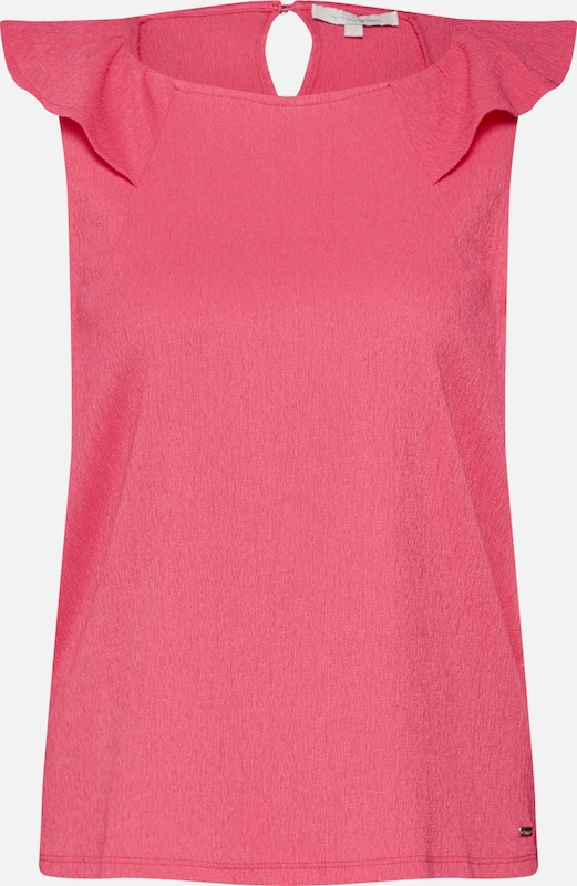 TOM TAILOR DENIM Top in pink: Frontalansicht