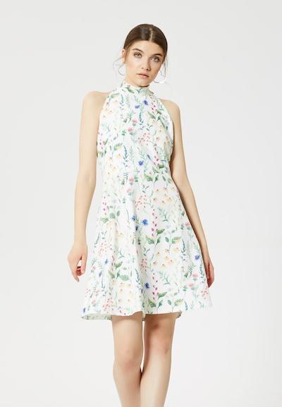 MYMO Kleid in royalblau / hellgelb / grün / melone / weiß, Modelansicht