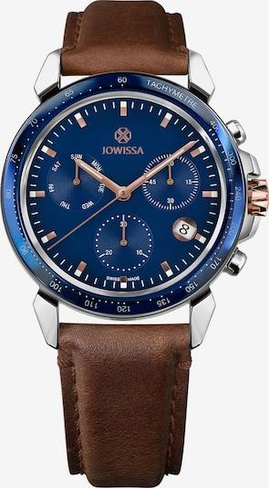 JOWISSA Quarzuhr 'LeWy 9' Swiss Men's Watch in blau / braun / rosegold / silber, Produktansicht