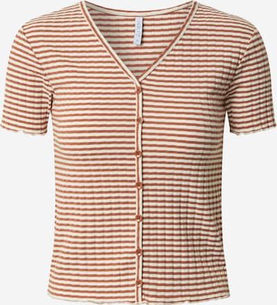 Hailys T-shirt 'Bibi' en marron / blanc, Vue avec produit