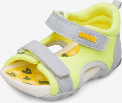 CAMPER Sandale 'Ous' in neongelb / hellgrau, Produktansicht