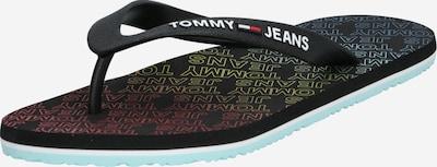 Tommy Jeans Zehentrenner 'REPEAT PRINT BEACH SANDAL' in schwarz, Produktansicht