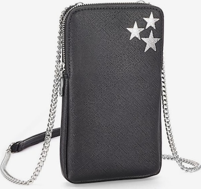 LASCANA Handytasche in schwarz / silber, Produktansicht