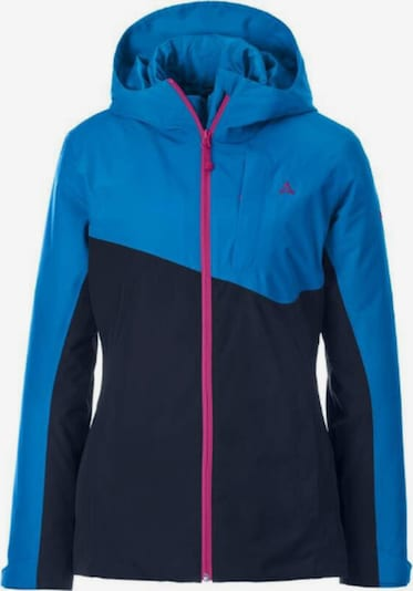 Schöffel Jacke in nachtblau / himmelblau / pink, Produktansicht