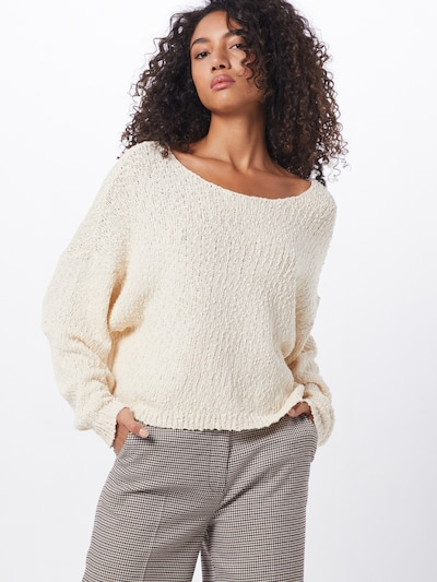 NÜMPH Pullover in creme: Frontalansicht