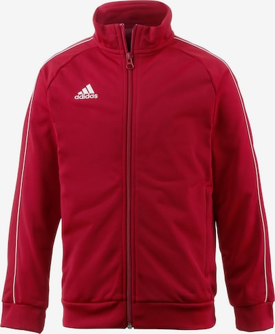 ADIDAS PERFORMANCE Trainingsjacke 'Core' in dunkelrot / weiß, Produktansicht