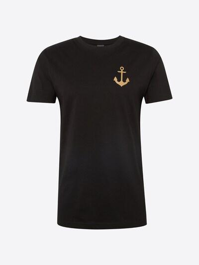 Mister Tee Shirt 'Captain' in gold / schwarz: Frontalansicht