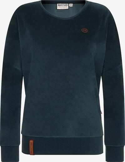 naketano Sweatshirt 'Auf Dem Küchentisch' in petrol, Produktansicht