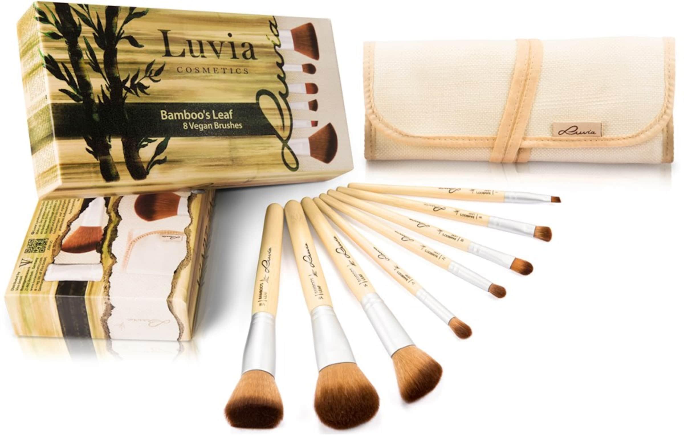 Leaf' 8 'Bamboo's Luvia Kosmetikpinsel Pinseln Aufbewahrungstasche Cosmetics Veganes mit Set und 0xBqwp