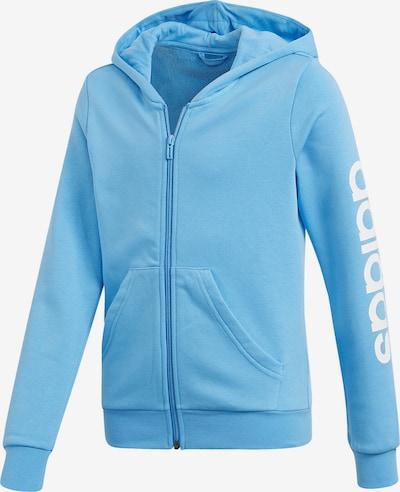 ADIDAS PERFORMANCE Sweatjacke 'E LIN FZ H' in himmelblau / weiß, Produktansicht